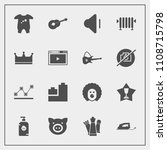 modern  simple vector icon set... | Shutterstock .eps vector #1108715798
