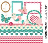 Vintage Scrapbook Elements Set...