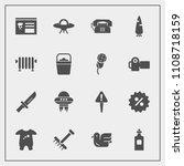 modern  simple vector icon set... | Shutterstock .eps vector #1108718159