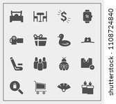 modern  simple vector icon set... | Shutterstock .eps vector #1108724840