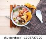 authentic thai style noodle... | Shutterstock . vector #1108737320