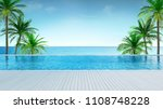 relaxing summer beach  ... | Shutterstock . vector #1108748228