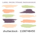 artistic label brush stroke... | Shutterstock .eps vector #1108748450