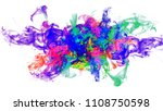 colored smoke isolated on white ... | Shutterstock . vector #1108750598