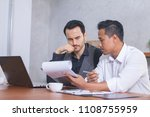 business people negotiating a... | Shutterstock . vector #1108755959