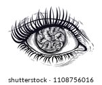 realistic eye with highly... | Shutterstock .eps vector #1108756016