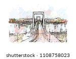 landmark with building view of... | Shutterstock .eps vector #1108758023