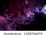 cloud of  pink and purple smoke ... | Shutterstock . vector #1108766474