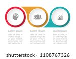 vector infographic template for ... | Shutterstock .eps vector #1108767326