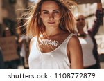 confident female activist... | Shutterstock . vector #1108772879