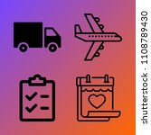 logistics vector icon set... | Shutterstock .eps vector #1108789430