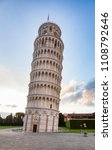 Medieval Leaning Tower Of Pisa...