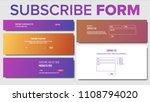 website contact  subscribe form ... | Shutterstock .eps vector #1108794020