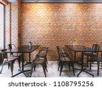 modern cafe in loft style ... | Shutterstock . vector #1108795256