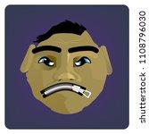head of cartoon character with... | Shutterstock .eps vector #1108796030