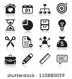 internet web icons set | Shutterstock .eps vector #110880059