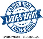 ladies night round grunge... | Shutterstock .eps vector #1108800623
