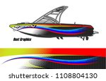 boat livery graphic vector....
