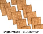 some dry biscuits on a white... | Shutterstock . vector #1108804934