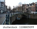 downtown of amsterdam in the...   Shutterstock . vector #1108805099