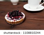berry basket. breakfast | Shutterstock . vector #1108810244