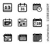 new calendar icons set. simple... | Shutterstock .eps vector #1108818839