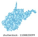 blue dotted west virginia state ... | Shutterstock .eps vector #1108820099