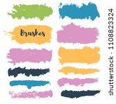 brush strokes set backgrounds.... | Shutterstock .eps vector #1108823324