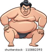 angry cartoon sumo wrestler....