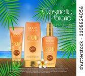 summer sunblock cosmetic design ... | Shutterstock .eps vector #1108824056