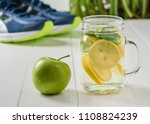 a freshly prepared drink made... | Shutterstock . vector #1108824239