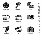 serving the room icons set.... | Shutterstock .eps vector #1108826210