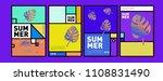 summer colorful poster design... | Shutterstock .eps vector #1108831490