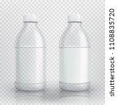 empty realistic plastic bottle. ... | Shutterstock .eps vector #1108835720