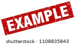 square grunge red example stamp | Shutterstock .eps vector #1108835843