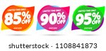 set sale tags  speech bubble...   Shutterstock .eps vector #1108841873