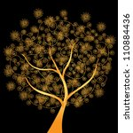 Abstract Golden Tree  Symbol O...