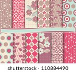 abstract vector set of... | Shutterstock .eps vector #110884490
