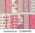 abstract vector set of... | Shutterstock .eps vector #110884490