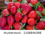 fresh red strawberry in the... | Shutterstock . vector #1108846388