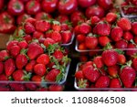 fresh red strawberry in the... | Shutterstock . vector #1108846508