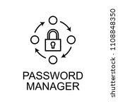 password manager outline icon.... | Shutterstock . vector #1108848350
