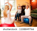 group of senior people exercise ... | Shutterstock . vector #1108849766