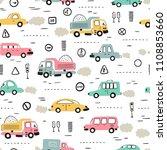 cartoon transportation... | Shutterstock .eps vector #1108853660