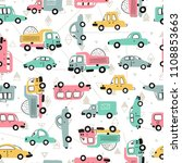 cartoon transportation... | Shutterstock .eps vector #1108853663