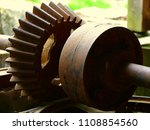old rusty gears. rusty old... | Shutterstock . vector #1108854560
