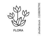 flora outline icon. element of... | Shutterstock . vector #1108858790