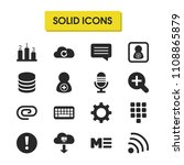 interface icons set with add...