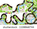 road infographic. set a winding ...   Shutterstock . vector #1108868744