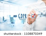 we are done  gdpr is... | Shutterstock . vector #1108870349